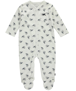 "Nautica Baby Girls' ""Heart Sails"" Footed Coverall - CookiesKids.com"