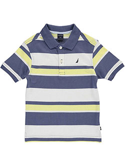 "Nautica Little Boys' Toddler ""Hamlin"" Pique Polo (Sizes 2T – 4T) - CookiesKids.com"