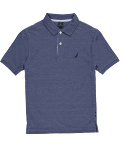 "Nautica Big Boys' ""Stitch Stripe"" Pique Polo (Sizes 8 – 20) - CookiesKids.com"