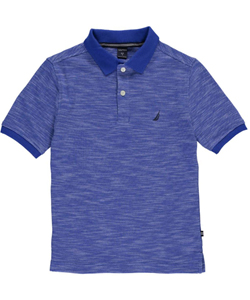 "Nautica Big Boys' ""Sport Contrast"" Knit Polo (Sizes 8 – 20) - CookiesKids.com"
