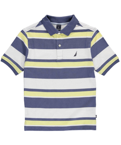"Nautica Big Boys' ""Hamlin"" Pique Polo (Sizes 8 – 20) - CookiesKids.com"