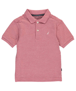 Nautica Little Boys' School Uniform Pique Polo (Sizes 4 – 7X) - CookiesKids.com