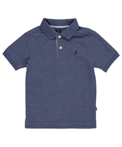 "Nautica Little Boys' ""Stitched Stripe"" Pique Polo (Sizes 4 – 7X) - CookiesKids.com"