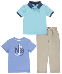 "Nautica Little Boys' Toddler ""North Woods"" 3-Piece Outfit (Sizes 2T – 4T) - CookiesKids.com"