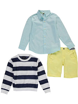 "Nautica Little Boys' Toddler ""Stripes vs. Gingham"" 3-Piece Outfit (Sizes 2T – 4T) - CookiesKids.com"