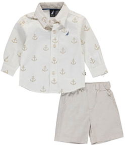 "Nautica Baby Boys ""Prepster Style"" 2-Piece Outfit - CookiesKids.com"