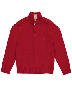"Nautica Big Boys' ""Furrowed Edge"" Sweater (Sizes 8 – 20) - CookiesKids.com"