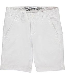 "Nautica Big Boys' ""Stretch Twill"" Shorts (Sizes 8 – 20) - CookiesKids.com"