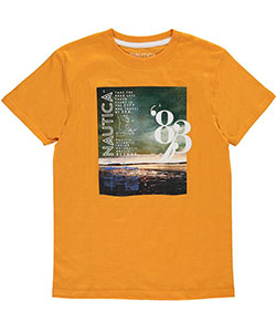 "Nautica Little Boys' ""Travel by Sea"" T-Shirt (Sizes 4 – 7) - CookiesKids.com"