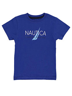 "Nautica Little Boys' ""Coastal Sailing"" T-Shirt (Sizes 4 – 7) - CookiesKids.com"