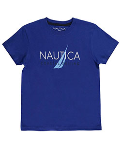 "Nautica Big Boys' ""Coastal Sailing"" T-Shirt (Sizes 8 – 20) - CookiesKids.com"
