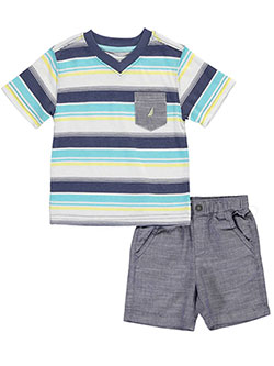 "Nautica Baby Boys' ""Chambray Base"" 2-Piece Outfit - CookiesKids.com"
