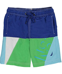 "Nautica Little Boys' ""Color-Blocked Seas"" Boardshorts (Sizes 4 – 7) - CookiesKids.com"