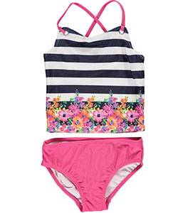 "Nautica Little Girls' Toddler ""Beach Day"" 2-Piece Tankini (Sizes 2T – 4T) - CookiesKids.com"