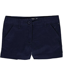 "Nautica Little Girls' Toddler ""Shoreline"" Short Shorts (Sizes 2T – 4T) - CookiesKids.com"