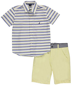 "Nautica Little Boys' Toddler ""Style Lines"" 2-Piece Outfit (Sizes 2T – 4T) - CookiesKids.com"