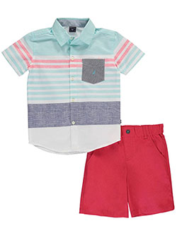 "Nautica Little Boys' Toddler ""Rockville"" 2-Piece Outfit (Sizes 2T – 4T) - CookiesKids.com"