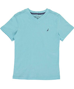 Nautica Little Boys' V-Neck T-Shirt (Sizes 4 – 7) - CookiesKids.com