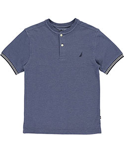 "Nautica Big Boys' ""Pique"" Henley T-Shirt (Sizes 8 – 20) - CookiesKids.com"