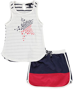 "Nautica Little Girls' Toddler ""On the Court"" 2-Piece Outfit (Sizes 2T – 4T) - CookiesKids.com"