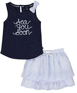 "Nautica Little Girls' ""See You Soon"" 2-Piece Outfit (Sizes 4 – 6X) - CookiesKids.com"