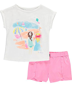 "Nautica Little Girls' ""Beach Day"" 2-Piece Outfit (Sizes 4 – 6X) - CookiesKids.com"