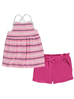 "Nautica Little Girls' Toddler ""Anchored Stripes"" 2-Piece Outfit (Sizes 2T – 4T) - CookiesKids.com"
