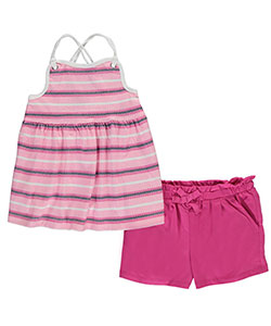 "Nautica Little Girls' ""Anchored Stripes"" 2-Piece Outfit (Sizes 4 – 6X) - CookiesKids.com"