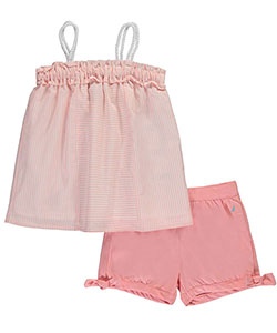"Nautica Little Girls' ""Roped & Bowed"" 2-Piece Outfit (Sizes 4 – 6X) - CookiesKids.com"