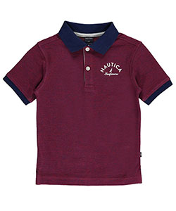 "Nautica Little Boys' Toddler ""Seafarers"" Pique Polo (Sizes 2T – 4T) - CookiesKids.com"