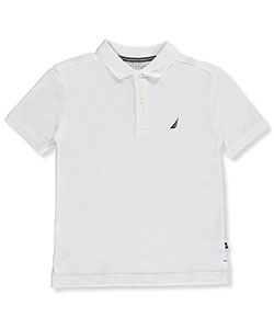 "Nautica Little Boys' ""Solid State"" Pique Polo (Sizes 4 – 7X) - CookiesKids.com"