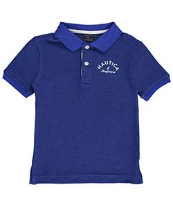 "Nautica Little Boys' ""Seafarers"" Pique Polo (Sizes 4 – 7X) - CookiesKids.com"