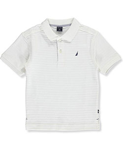"Nautica Little Boys' ""Lined Contrast"" Pique Polo (Sizes 4 – 7X) - CookiesKids.com"