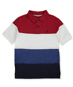 "Nautica Big Boys' ""Paneled Sails"" Pique Polo (Sizes 8 – 20) - CookiesKids.com"