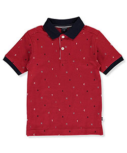 "Nautica Big Boys' ""Scattered Logo"" Pique Polo (Sizes 8 – 20) - CookiesKids.com"