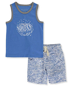 "Nautica Little Boys' Toddler ""Windsail"" 2-Piece Outfit (Sizes 2T – 4T) - CookiesKids.com"