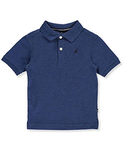 "Nautica Little Boys' Toddler ""Solid State"" Pique Polo (Sizes 2T – 4T) - CookiesKids.com"
