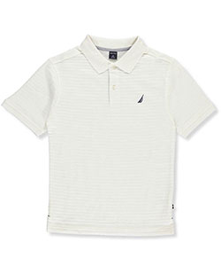 "Nautica Big Boys' ""Lined Contrast"" Pique Polo (Sizes 8 – 20) - CookiesKids.com"