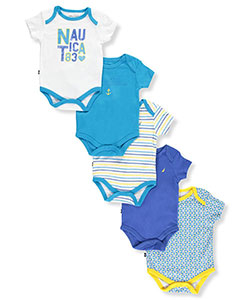"Nautica Baby Girls' ""Sea Star"" 5-Pack Bodysuits - CookiesKids.com"