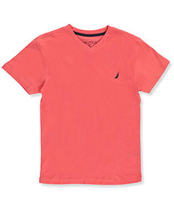 Nautica Big Boys' V-Neck T-Shirt (Sizes 8 – 20) - CookiesKids.com