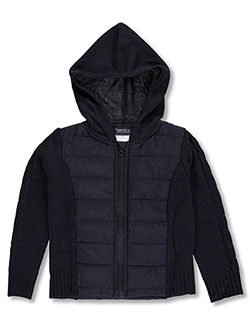 Nautica Little Girls' Quilted Hooded Jacket (Sizes 4 – 6X) - CookiesKids.com