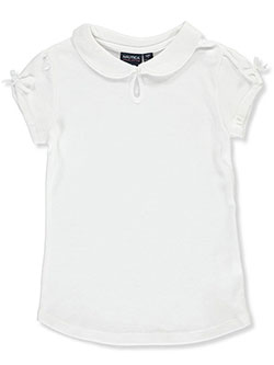 Nautica Big Girls' S/S Knit Keyhole Top (Sizes 7 – 16) - CookiesKids.com