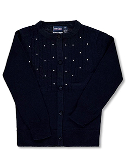 Nautica Big Girls' Rhinestone Cardigan (Sizes 7 – 16) - CookiesKids.com