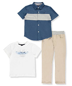 "Nautica Little Boys' Toddler ""Seafarers Supply"" 3-Piece Outfit (Sizes 2T – 4T) - CookiesKids.com"