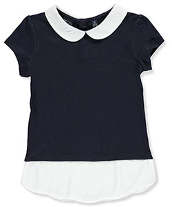 Nautica Big Girls' S/S Mock Layer Top (Sizes 7 – 16) - CookiesKids.com