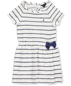 Nautica Little Girls' Toddler Terry Stripe Dress (Sizes 2T – 4T) - CookiesKids.com