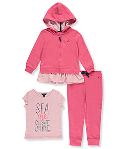 Nautica Little Girls' Toddler 3-Piece Outfit (Sizes 2T – 4T) - CookiesKids.com