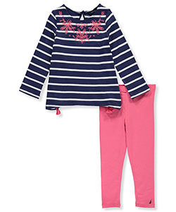 Nautica Little Girls' Toddler 2-Piece Outfit (Sizes 2T – 4T) - CookiesKids.com
