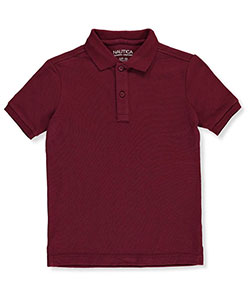 Nautica Little Boys' S/S Pique Polo (Sizes 4 – 7) - CookiesKids.com