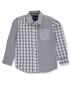 Nautica Little Boys' Toddler Button-Down Shirt (Sizes 2T – 4T) - CookiesKids.com